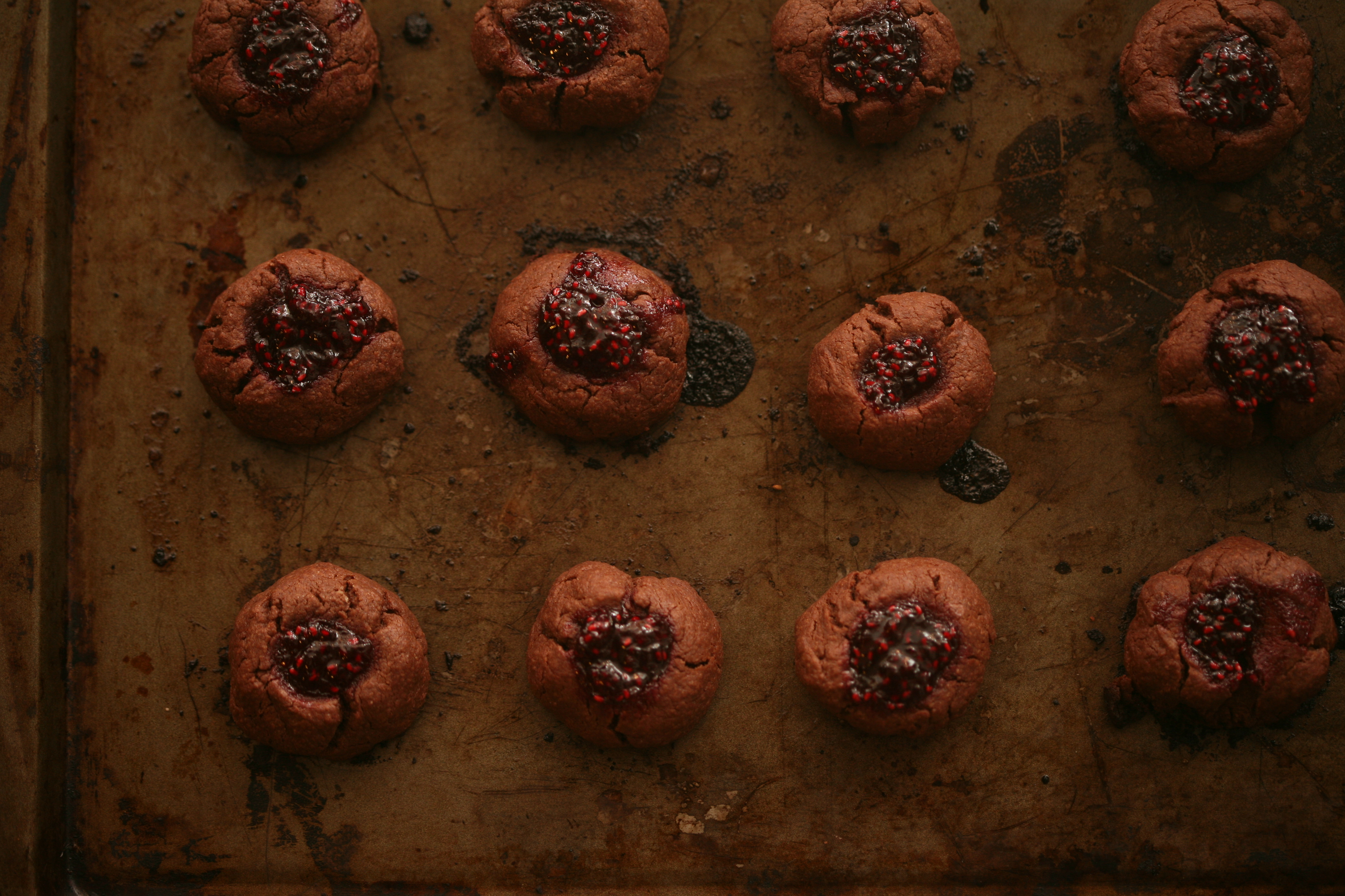 Chocolate Jam Thumbprint Cookies | grow it cook it can it