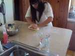 making the dough for orecchiette, from The Wholesome Epicure