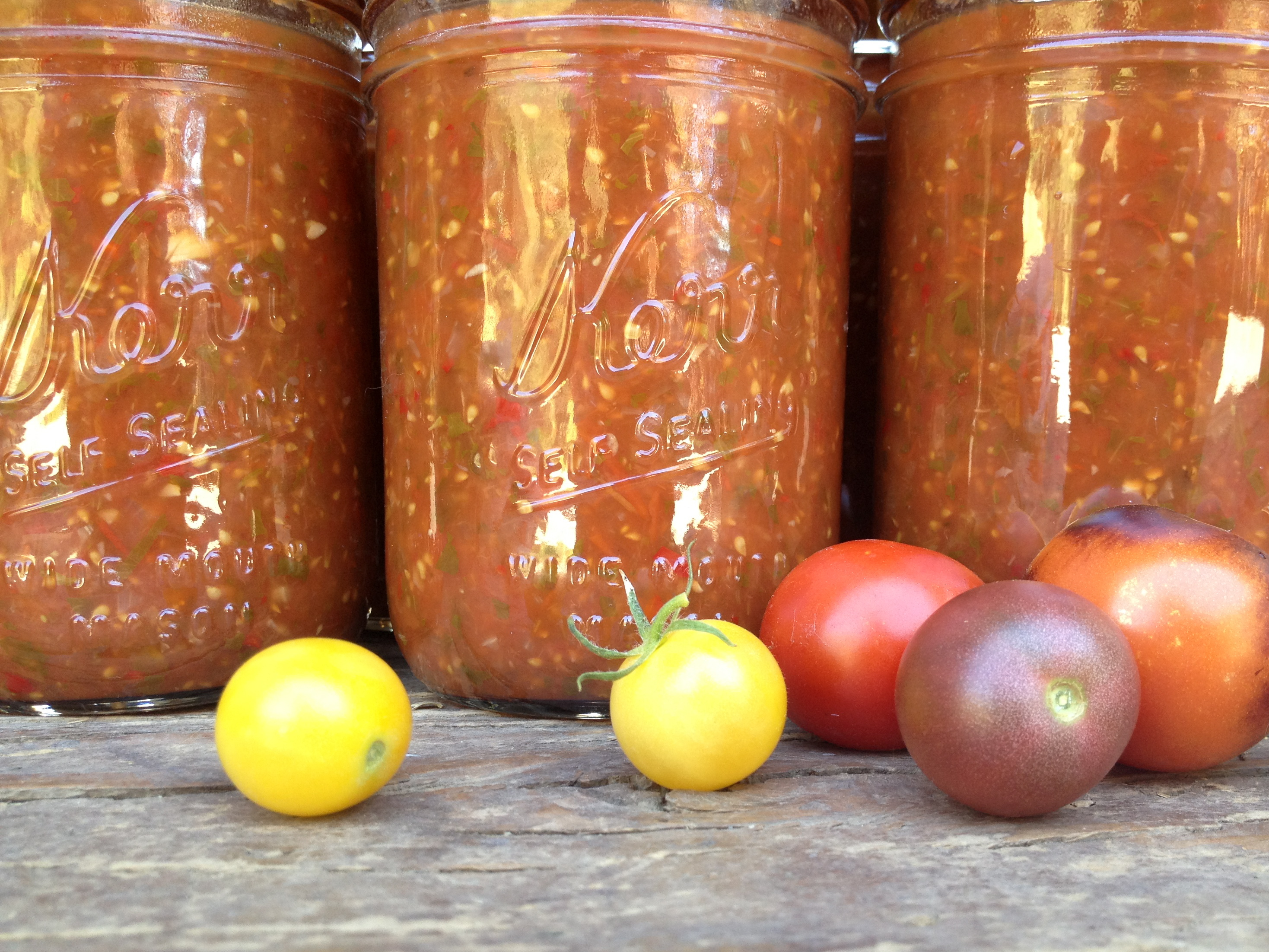 Lazy Cherry Tomato Salsa | grow it cook it can it