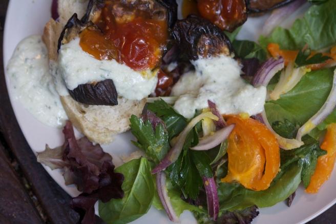 roasted eggplant plate