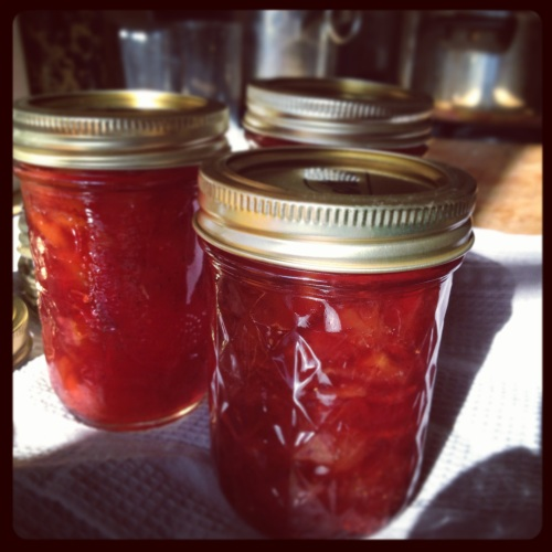 strawberry-peach-lemon jam